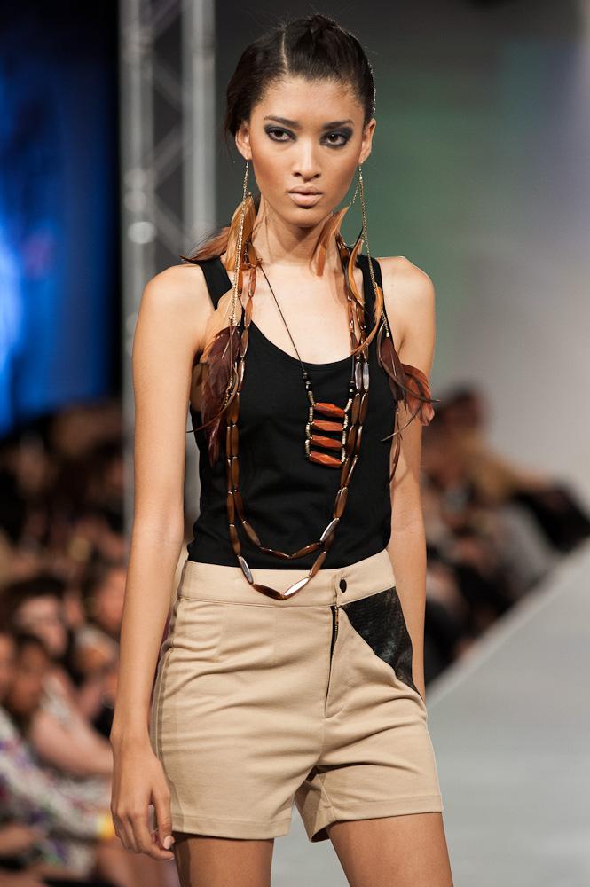Black Russian Label shorts Phoenix Fashion Week 2013