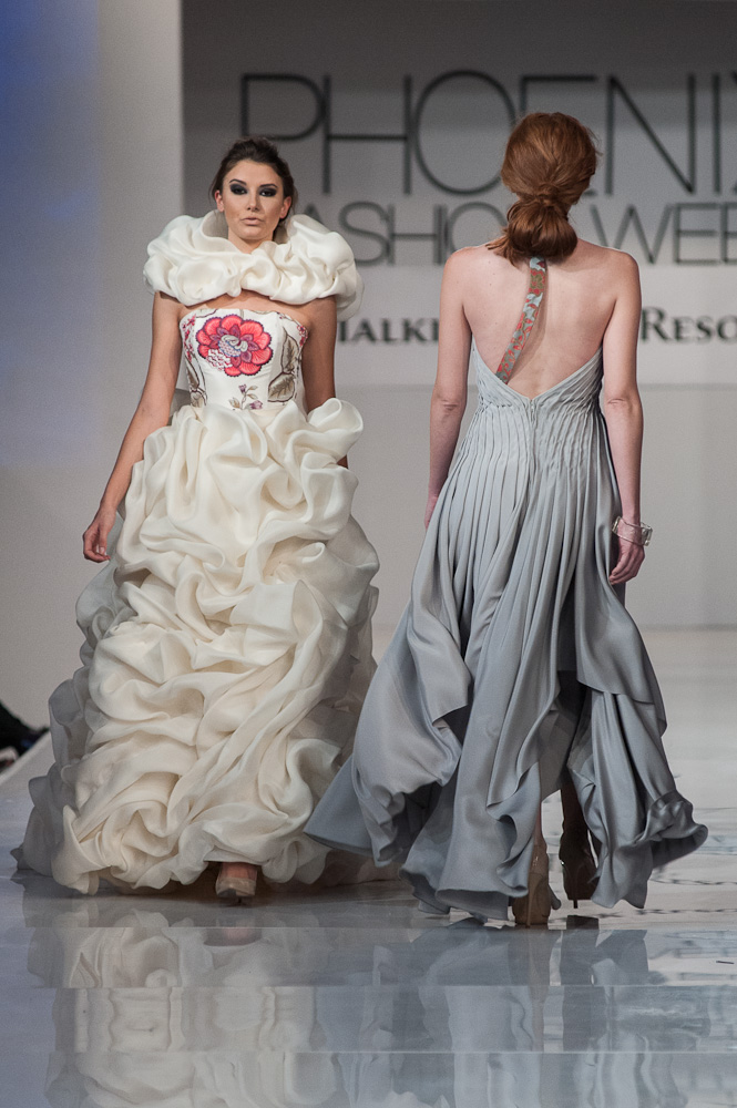 Bradon McDonald dresses Phoenix Fashion Week 2013 Project Runway designer