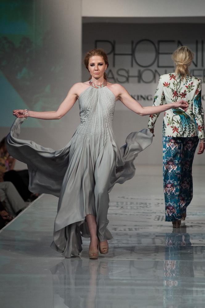 Fashion Week Project Runway grey dress