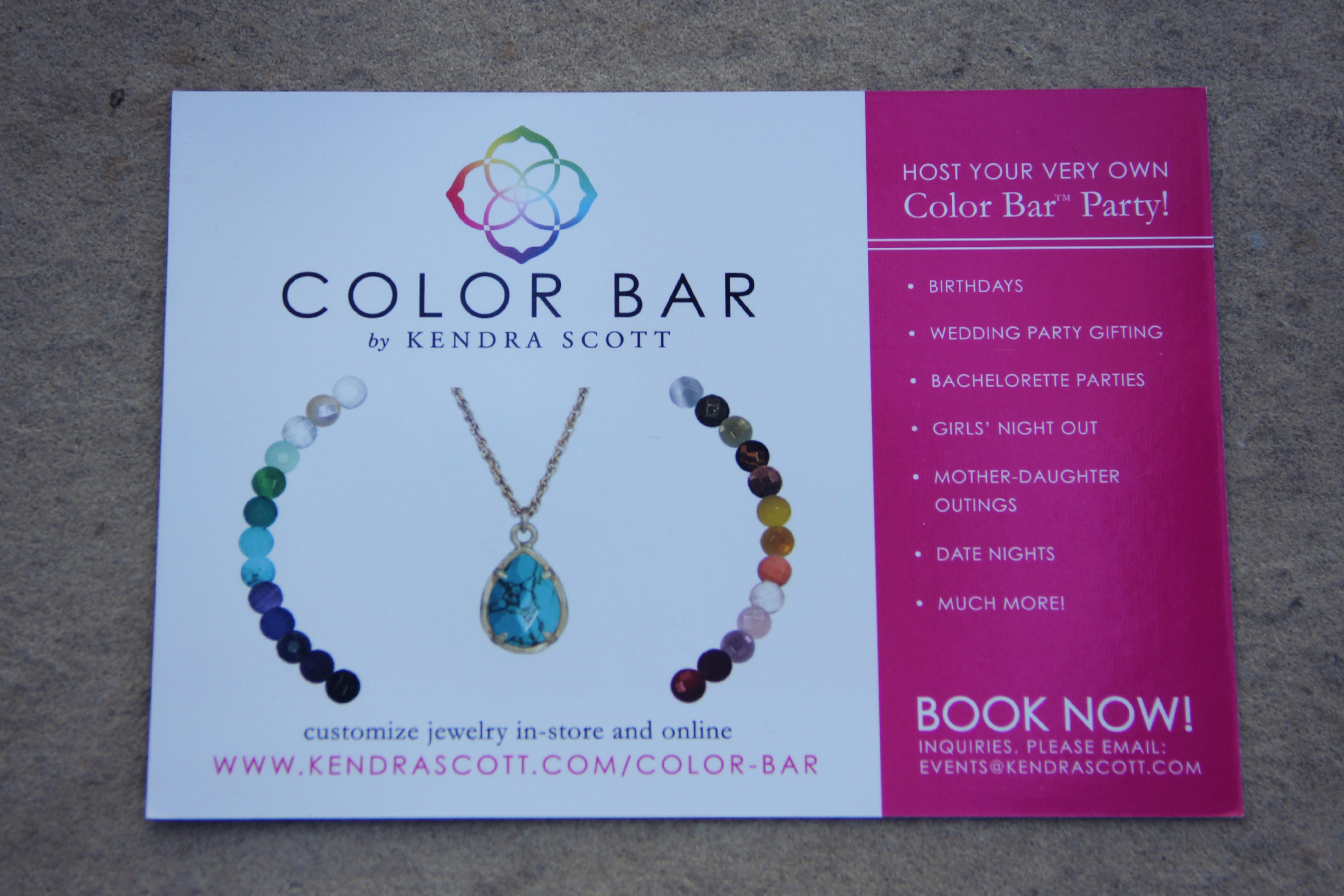 Color bar Kendra Scott Scottsdale Quarter