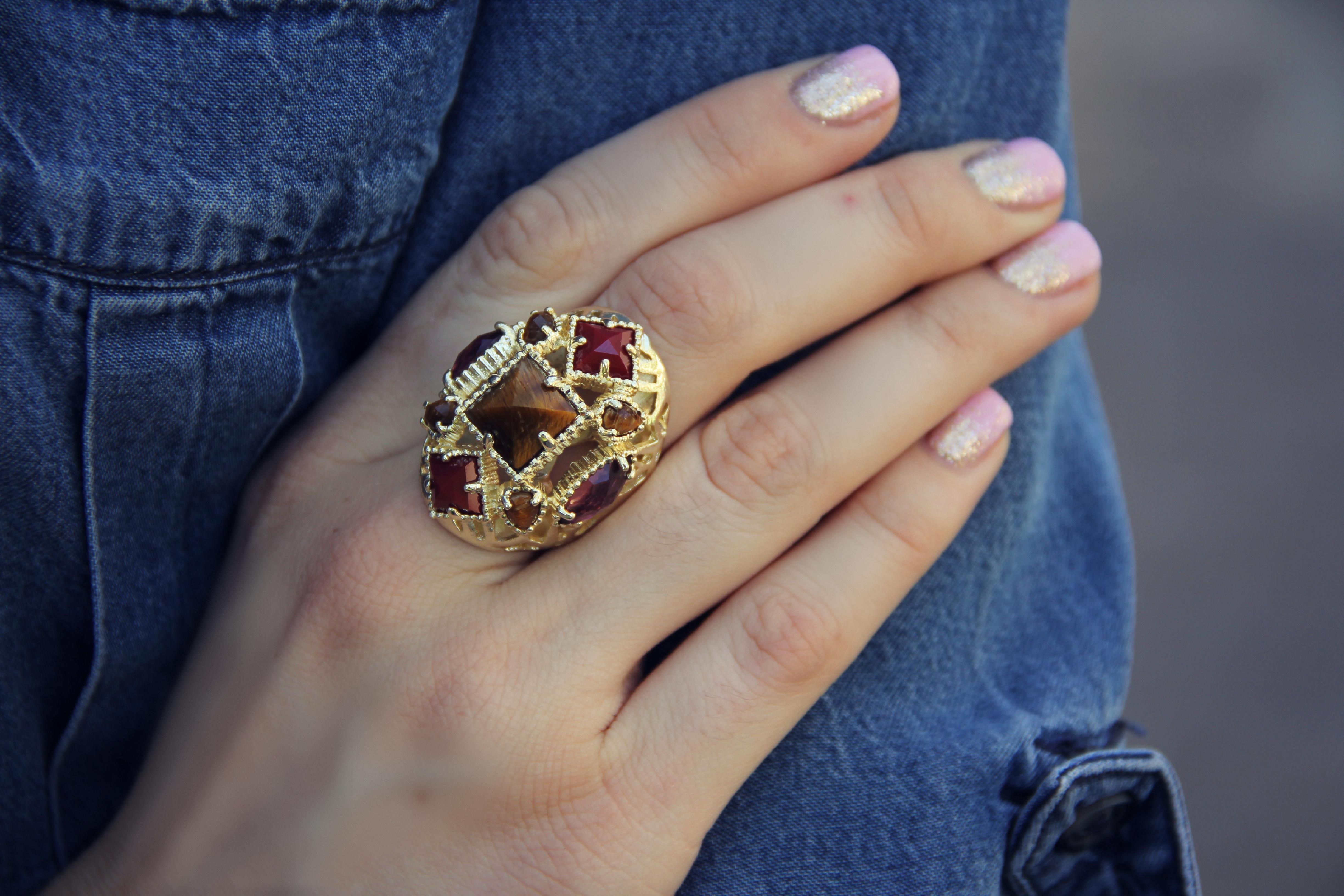 Kendra Scott jewelry ring tiger stone