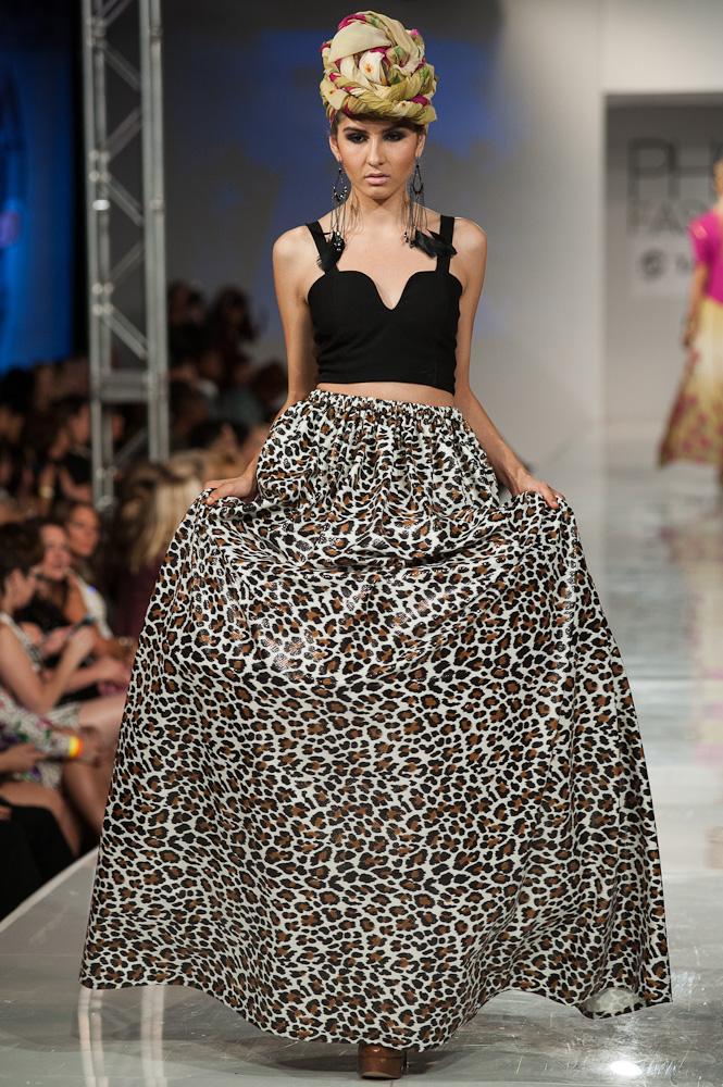 Leopard skirt Black Russian Lable Phoenix Fashion Week 2013