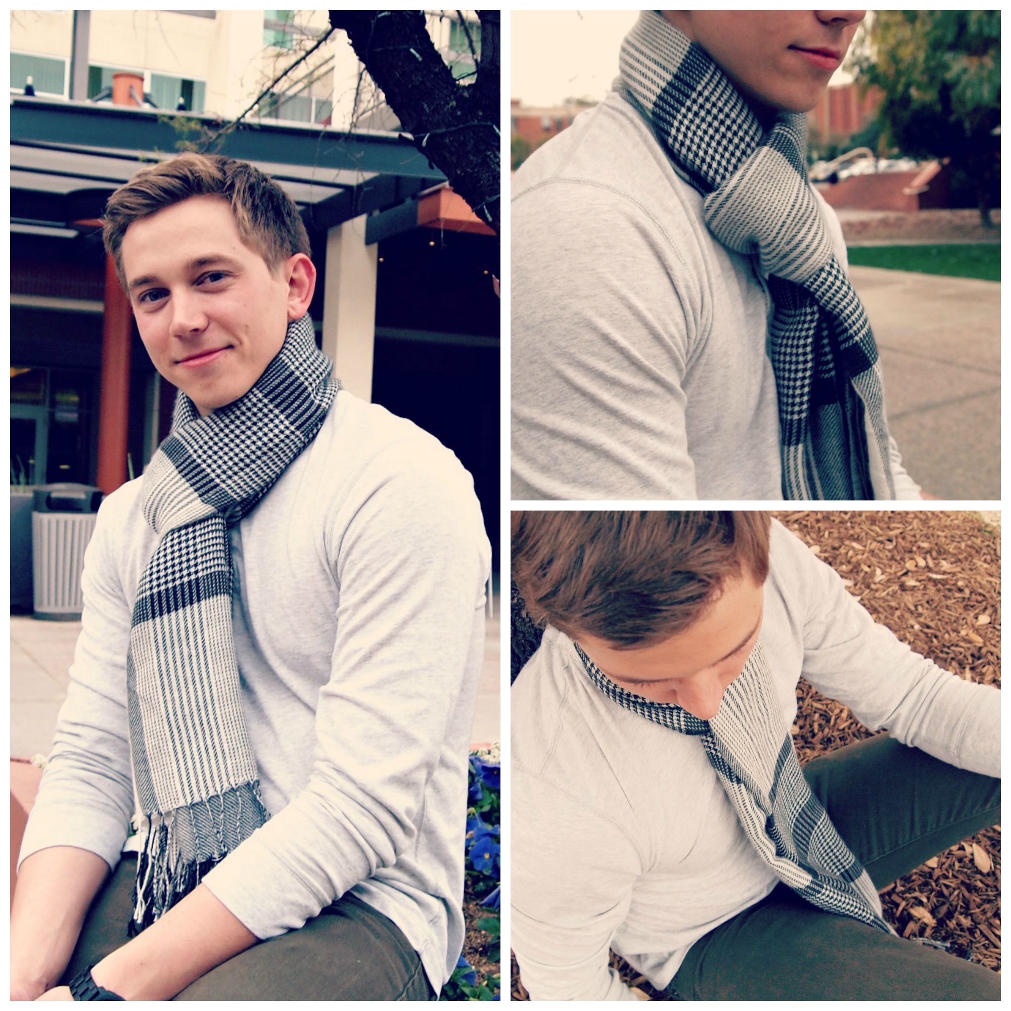 mens fashion cool weather scarves Jacob Lowery