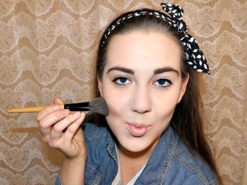 makeup brush tutorial contour pic